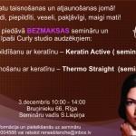 Renee Blanche - Bezmaksas seminārs par keratīniem