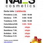 NAI_S cosmetics veikala darba laiks svētkos