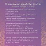 Semināru un meistarklašu plāns rudens/ziema – novembris/decembris/janvāris